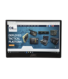 Cruiser One commercial-grade LCD monitor features an integrated BioDigitalPC® docking station